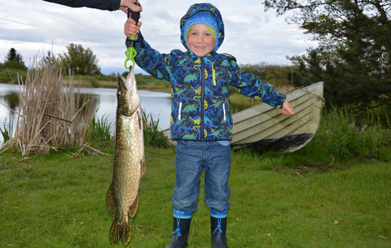 catch a pike on the farm Lilleskovgaard